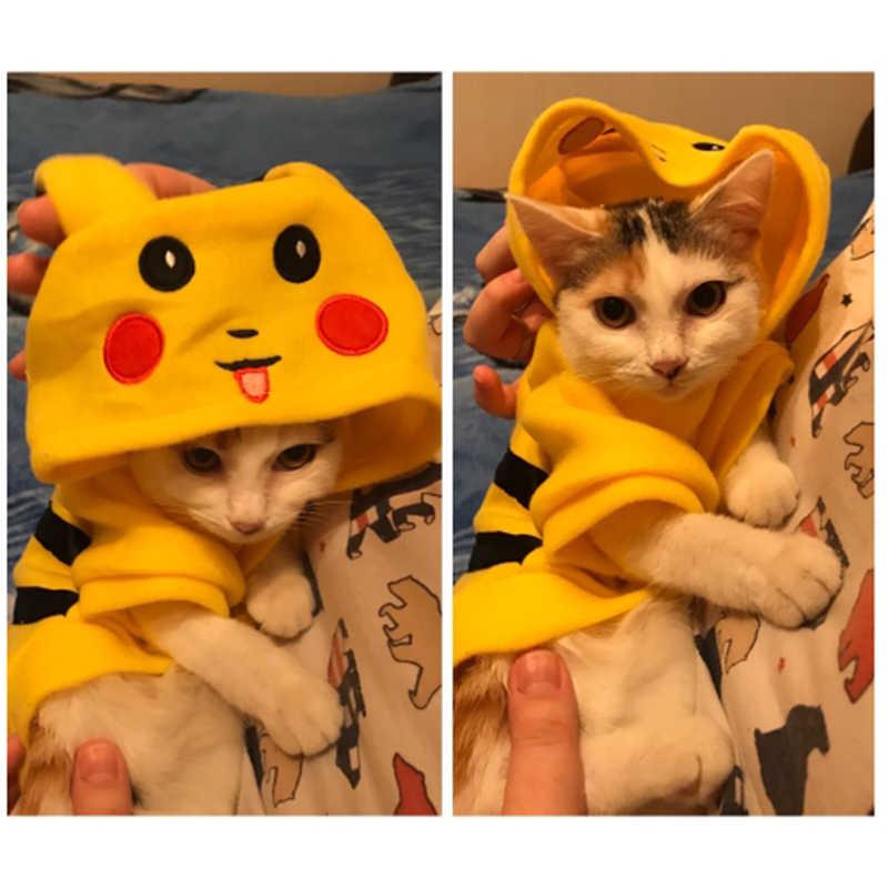 SUPREPET חתול תלבושות חמוד חיות מחמד בגדי פיקאצ 'ו קוספליי בגדי סתיו חורף חתול בגדי בית פיג' מה גור הסווטשרט כלב מעיל