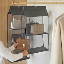 2pcs Closet Storage Bags Organizadores Case Durable Handbags Finishing Hanging  Organizer Door Hang