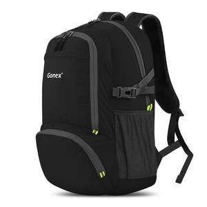 Image 1 - Gonex 30L Ultralight plecak składany plecak miasto torba do szkoły podróży turystyka odkryty Sport czarny 210D Nylon 2019 mężczyzna kobiet