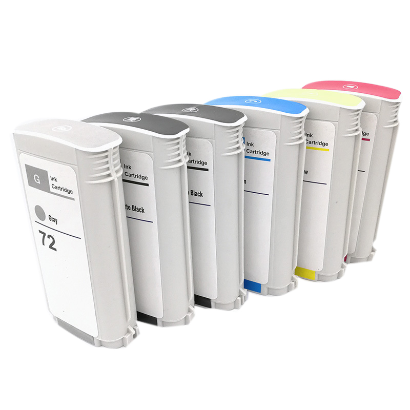 Compatible Ink Cartridge for HP72 Hp 72 for HP Designjet T610 T1120 T1200/Ps T1300 T2300 Printher Ink(6 Pack )