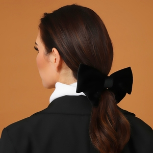 Большой бант, заколка для волос, Женская тиара, зеленая заколка, Корея, заколка для волос, Винтажные Украшения, бант, бархатные аксессуары для волос, подарки