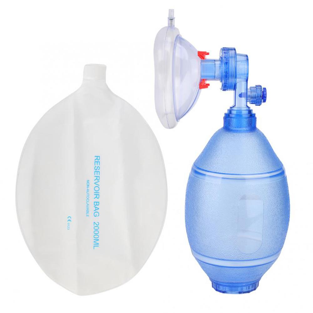 Manual Resuscitators PVC Adult/Children Simple Breathing Ball Apparatus Oxygen Bag First Aid Tool For First Aid Oxygen Machine