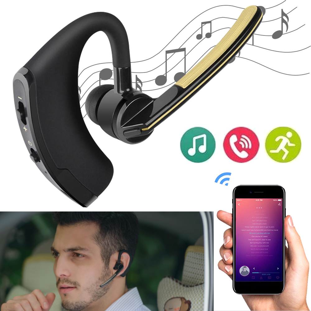 Wireless Bluetooth Headset Bluetooth Earphone Business Headphones with Mic Handsfree for Driving Car Noise Canceling Headphone
