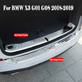 Автомобильный задний Внешний бампер Защитная крышка багажника двери для BMW X3 G01 G08 2018-2019