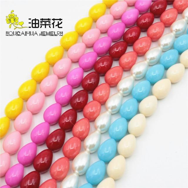 Разноцветные аксессуары 10x14 мм ожерелье браслет ремесла Стеклянный