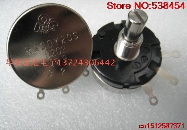 1 шт. импортный оригинальный потенциометр RA30Y20S проволочный ранечный потенциометр 1k 2k 5k 10k