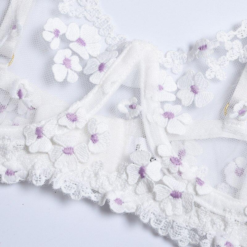 Ensemble de Lingerie Sexy blanc pour femmes