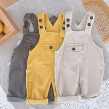 Girls Overalls Jumpsuits Corduroy-Pants Boys Kids And Summer Spring Cotton for 1-6-Years
