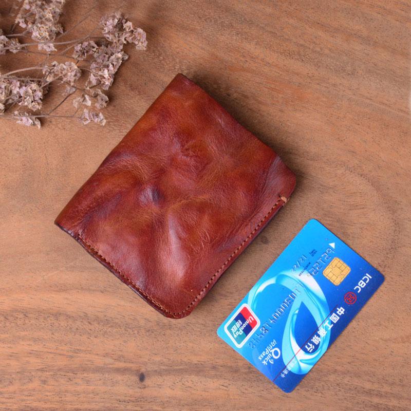 AETOO ручной работы винтажный плиссированный короткий кожаный бумажник первый слой кожаный мужской и женский вертикальный простой Молодежный тренд тонкий - Цвет: 1