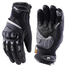 Мужские и женские перчатки для езды на мотоцикле MASONTEX, водонепроницаемые термоперчатки с сенсорным экраном, ветрозащитные перчатки для зимы