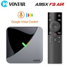 2020 A95X F3 Air 8K RGB Licht Smart TV Box Amlogic S905X3 Android 9,0 4GB 64GB Plex media server Netflix Youtube Set Top Box(China)
