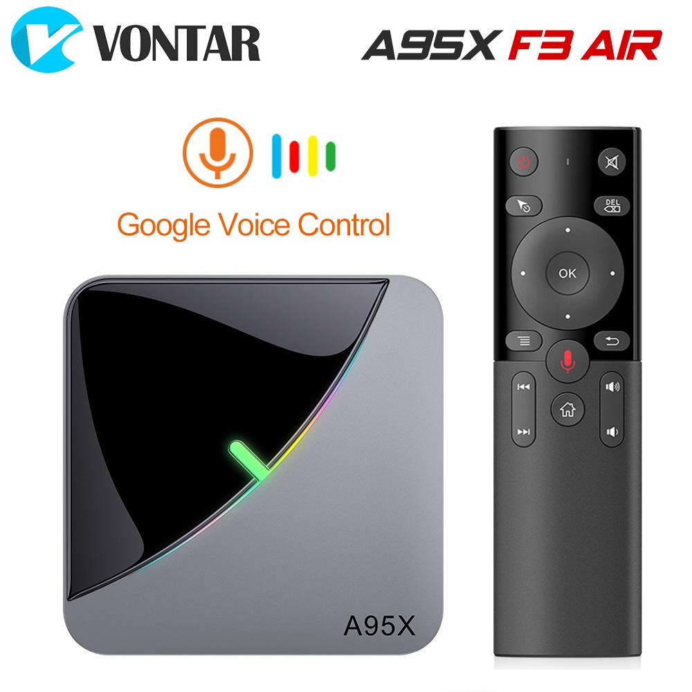 A95X F3 Air 8K RGB Light TV Box Amlogic S905X3 Android 9.0 4G 64G Plex Media Server Netflix Youtube Media Player A95X F2 H96 Max