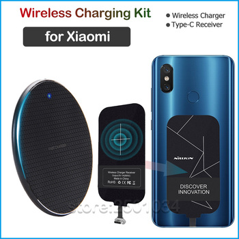 Qi Wireless Charging for Xiaomi Mi 5 5X 6 6X 8 9 9T SE Lite Pro A1 A2 A3 CC9e Poco F1 X2 Wireless Charger+USB Type C Receiver
