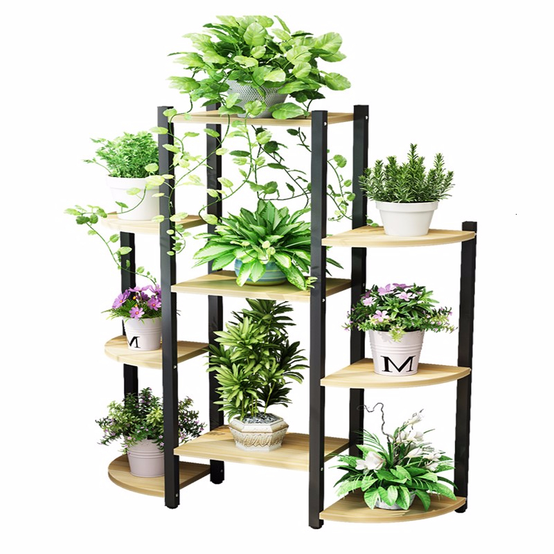 Art Multi-storey Interior Decoration To Ground Shelf Household Flowerpot Frame Flower Airs A Living Room