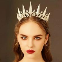 Black/Gold/Silver Color Bridal Wedding Tiaras and Crowns Rhinestone Headbands for Women Princess Diadem Hair Accessories