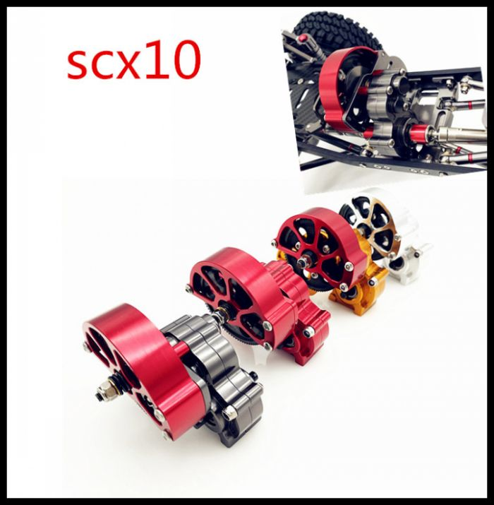RC Crawler SCX10 All Metal Transmission / Center Gearbox For 1/10 Axial SCX10 Gear Box Reverse Parts