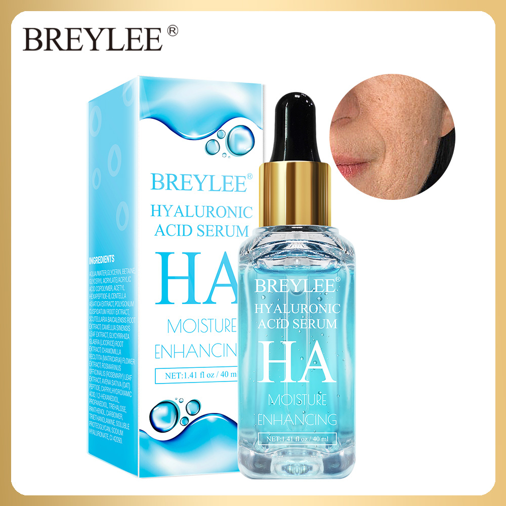 BREYLEE Hyaluronic Acid Essence 40ml Moisturizer Facial Serum Face Cream Anti Aging Wrinkles Hydrating Dry Skin Care Beatuy 40ml