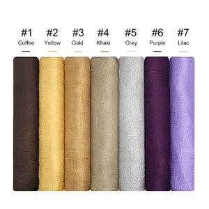 Image 5 - Panie muzułmański hidżab gorąca sprzedaż jedwabne szale kobiety shalws w jednolitym kolorze gładka okłady pałąk Pure color chustka długi tłumik 10 sztuk/partia