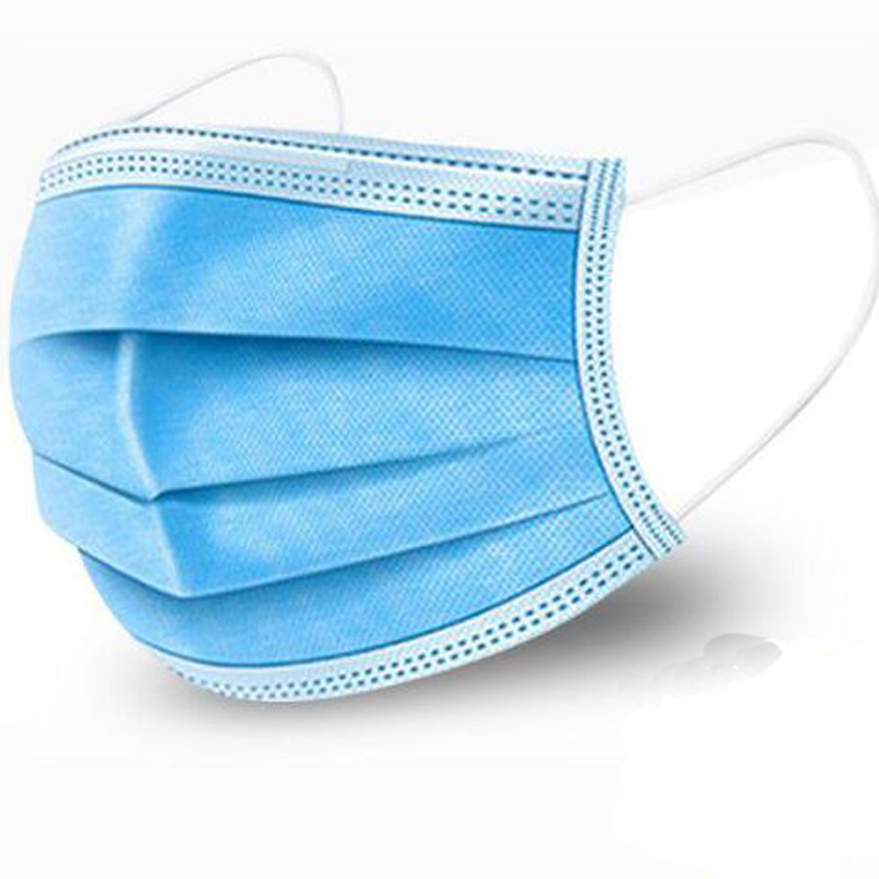 XEONGKVI Disposable Non-woven Fabric 3 Layer Thickening Protective Adult Masks Dustproof Waterproof  Breathable Face Mask