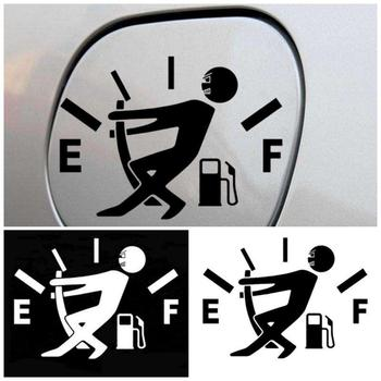 1 Pcs Funny Car Sticker Pull Fuel Tank Pointer To Full Hellaflush Reflective Vinyl Car Sticker Decal Wholesale Car Styling image