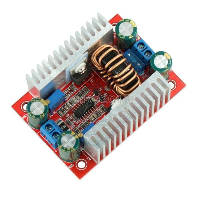Convertisseur de poussée de 400W 15A DC DC intensifient le régulateur de tension dalimentation de transformateur de puissance constante dissipateur thermique 8.5 V 50 V à 10 60V