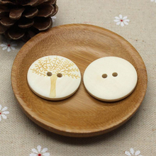 50 Pcs 2.0 cm 2 Holes Round Wood Buttons for Coats Garment DIY Crafts 2.5 3.0 flatback Sewing Accessories