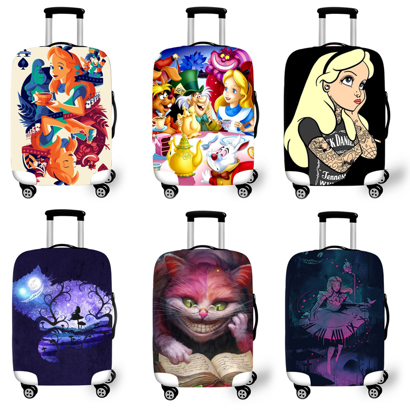 Elastic Luggage Protective Cover Case For Suitcase Protective Cover Trolley Cases Covers 3D Travel Accessories Cinderell Pattern