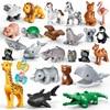 Brick Animal Spelling Building Blocks New Animal Cartoons Duplos Sea Flamingo Compatible With Brick Toys Children Baby Gift