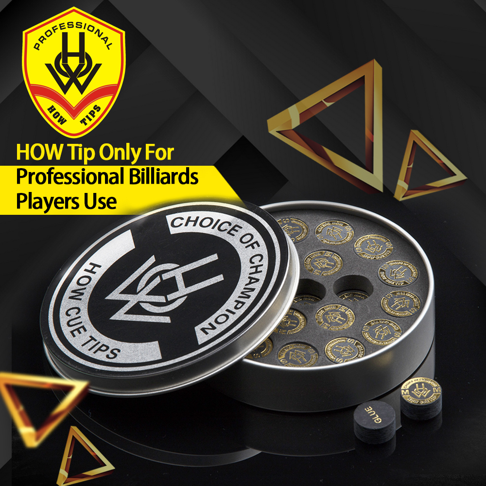 Original HOW Pool Cue Tip 14mm S M 2 Modles 8 Layers Of  Professional High Quality Billiards Accessories How Stick Kit