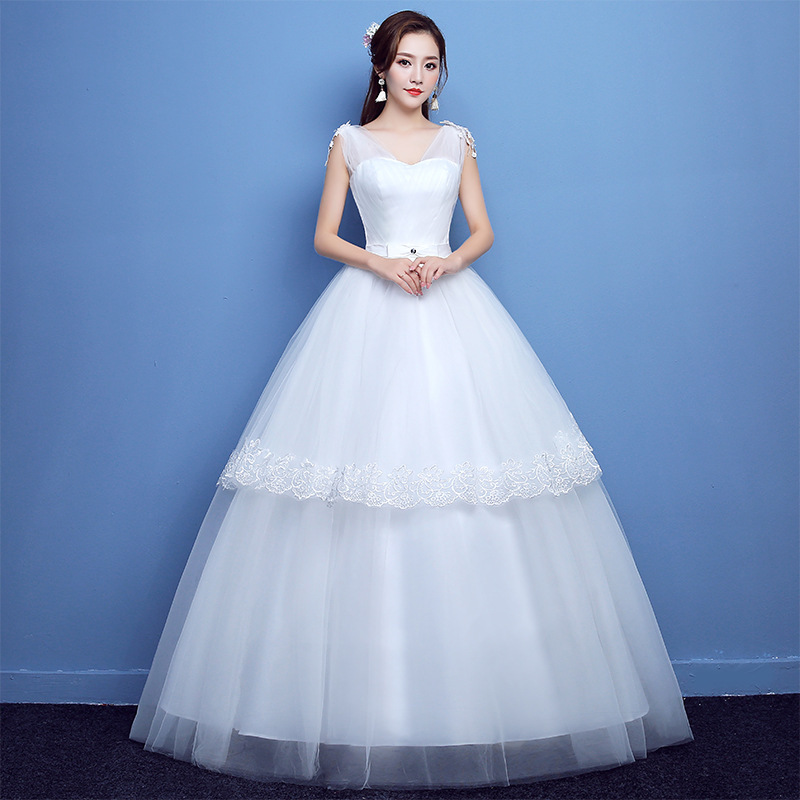 2019 Cocktail Dress Es Korean Show Thin Shoulders Studio Code Neat To Winter Of 2020 New Female Trailing Bride B77