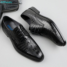 QYFCIOUFU Mens Formal Shoes Genuine Leather Oxford Shoes For Men Black Brown Dress Shoes Wedding Shoes Laces Leather Brogues luxury brand designer genuine leather mens wholecut oxford shoes for men black brown dress shoes business office formal shoes