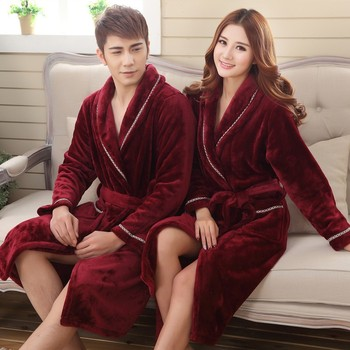 Winter Thick Fleece Bathrobe Unisex