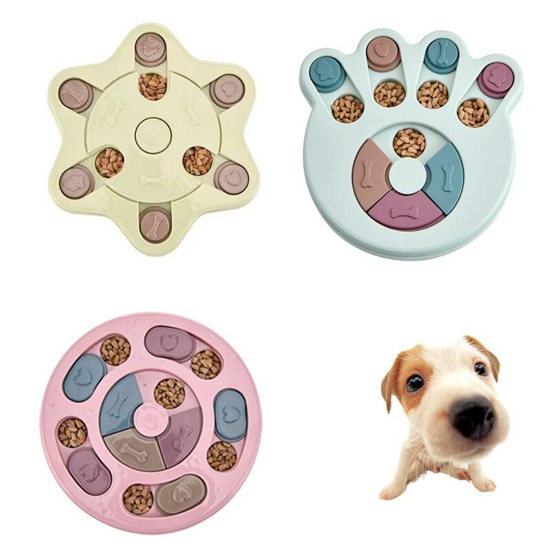 Cão quebra-cabeça brinquedos aumentar iq interativo dispensação lenta alimentação cão de estimação treinamento jogos alimentador para pequeno cão médio filhote de cachorro