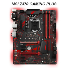 Für MSI Z370 GAMING PLUS Motherboard LGA 1151 Intel Z370 DDR4 M.2 SATA III Desktop Core i7/i5/i3 ATX Intel Mainboard Verwendet