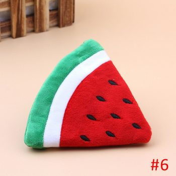 2020 summer new female bag plush leather female bag cute fruit small bag portable hook bag orange watermelon strawberry bag image