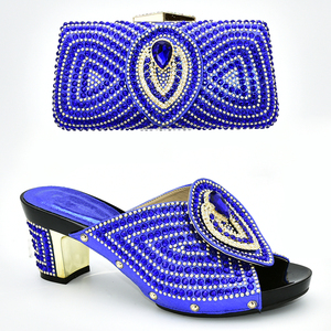 Image 5 - Italian Shoes with Matching Bags 2019 Shoe and Bag Set for Party In Women Nigerian Women Party Pumps with Purse Women High Heels