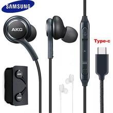 Original samsung akg fones de ouvido EO-IG955 fone de ouvido in-ear tipo-c com microfone com fio para galaxy note 10 nota 20 s21 s20 ultra fones de ouvido