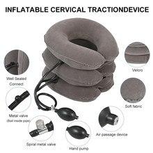 Civière de cou, Traction de l'air cervicale, 3 tubes, gonflage rapide, dispositifs médicaux de maison, oreiller orthopédique, collier, soulagement de la douleur