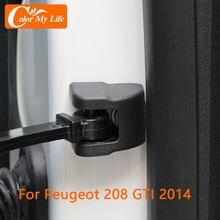 4 шт./компл. ABS Защитный ограничитель двери автомобиля крышка для пуэгеот 208 GTI 2014 аксессуары защита дверей отделка