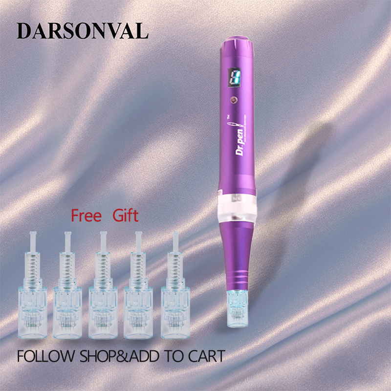 DARSONVAL Wired Electric X5 Dr.Pen Micro Needling Face Derma-pen Profesional Rolling Therapy Skin Care Screw Cartridge Tattoo