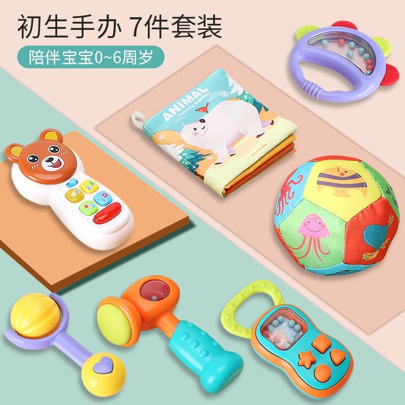 Bébé jouets 0-3 ans puzzle hochet cadeau ensemble nouveau-né fournitures hochet tissu livre illumination éducation précoce jouet pour enfants