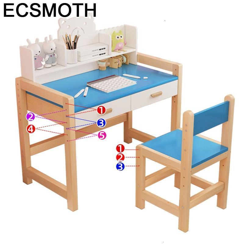 Child Silla Y Infantiles Enfant Avec Chaise Scrivania Baby Tavolo Bambini Adjustable Kinder Mesa Infantil Study Table For Kids