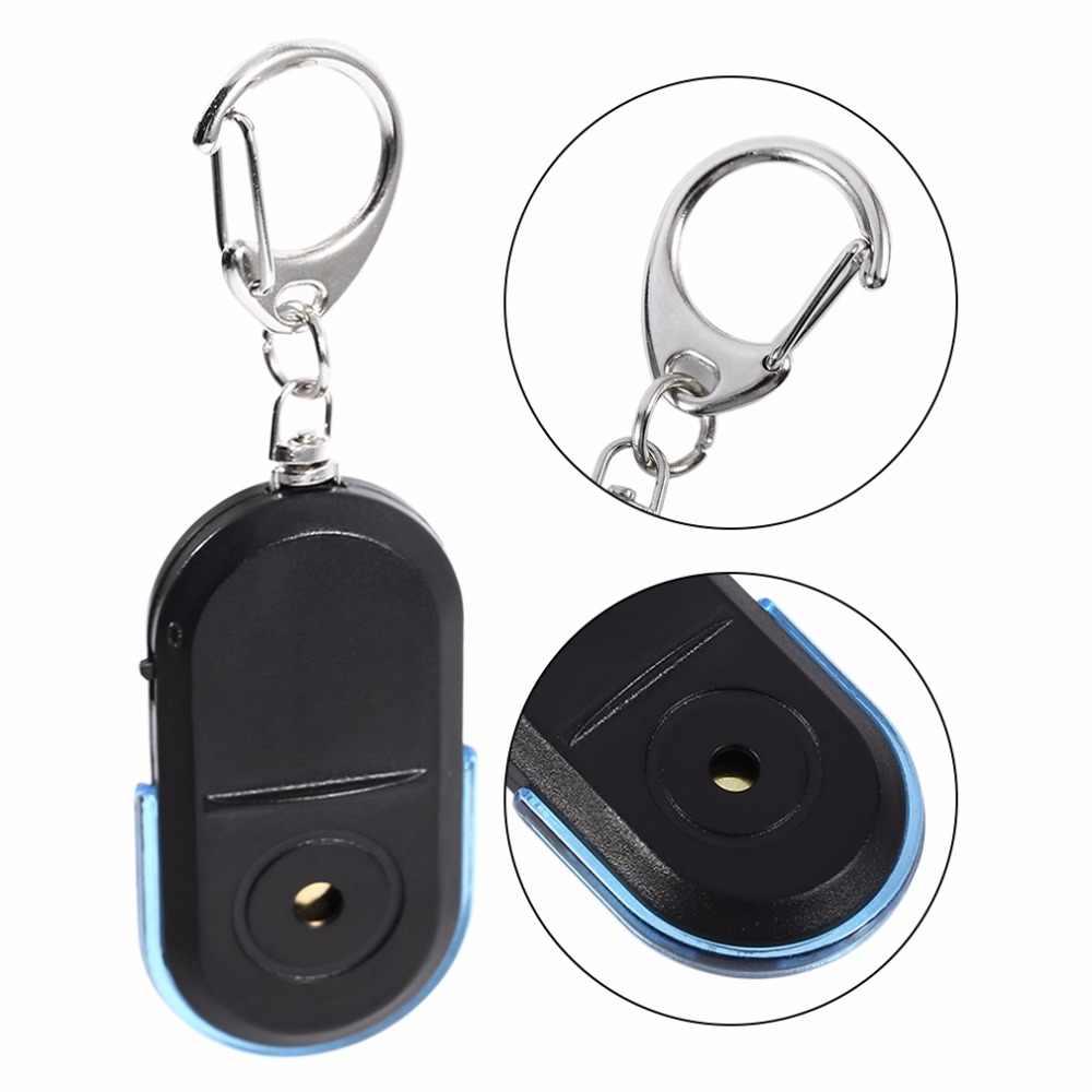 Buscador de llaves antipérdida con alarma llavero con localizador, sonido de silbato con luz LED, Minisensor Antipérdida buscador de llaves