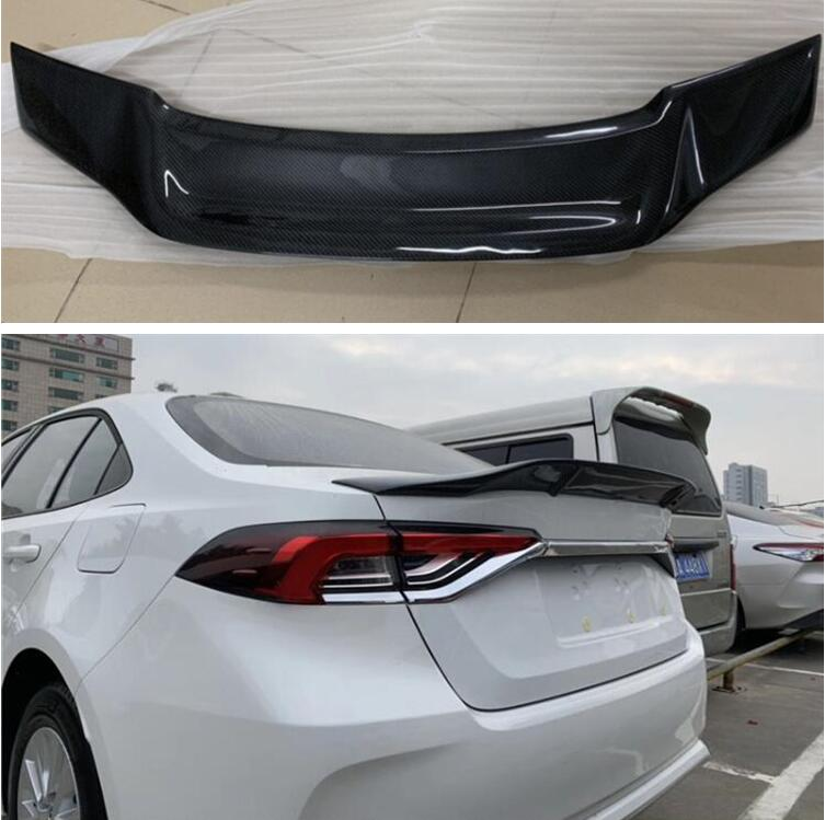 High Quality CARBON FIBER & ABS REAR WING TRUNK LIP <font><b>SPOILER</b></font> FOR <font><b>Toyota</b></font> <font><b>Corolla</b></font> <font><b>2019</b></font> 2020 2021 R STYLE image