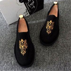 Image 3 - אביב אופנה דירות נעלי נעליים חצאיות נעלי בד אור קשה ללבוש 2019 איש נשים בד Harajuku גומי בד לרקום נעליים