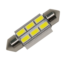 FESTOON 31mm 36mm 39mm 41mm 5630 6 SMD Car LED Canbus C5W White Ice Blue Dome Light Auto Reading Trunk Lamp Error Free Bulb 12V festoon 39mm 6w 420lm 6 cob led white light car auto reading lamp dome bulb 12v 2 pcs