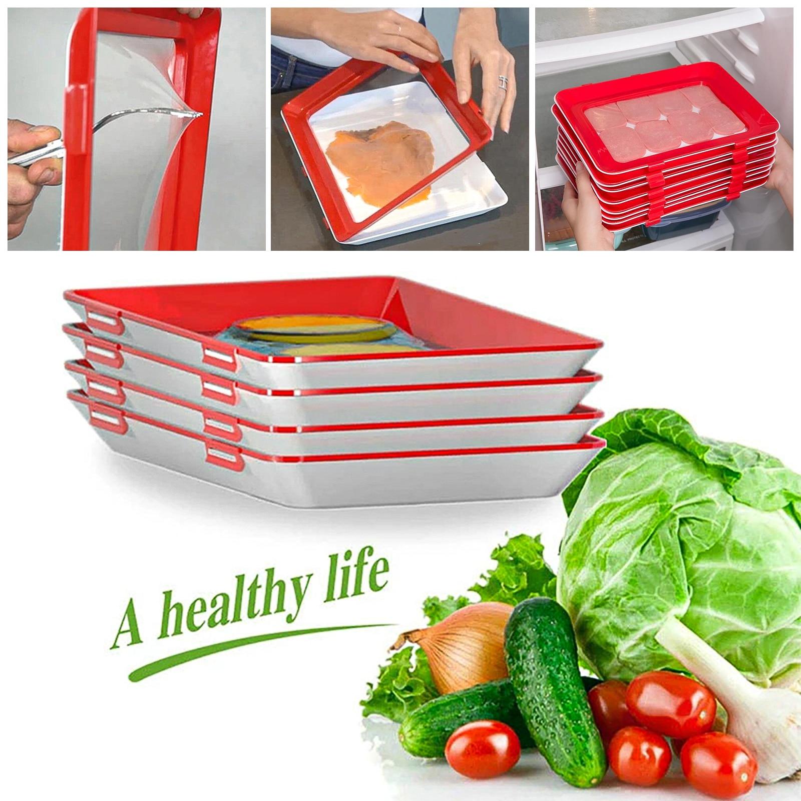 Newest Food Preservation Tray Food Fresh Keeping Fresh Spacer Organizer Food Preservate Refrigerator Kitchen Storage Holder