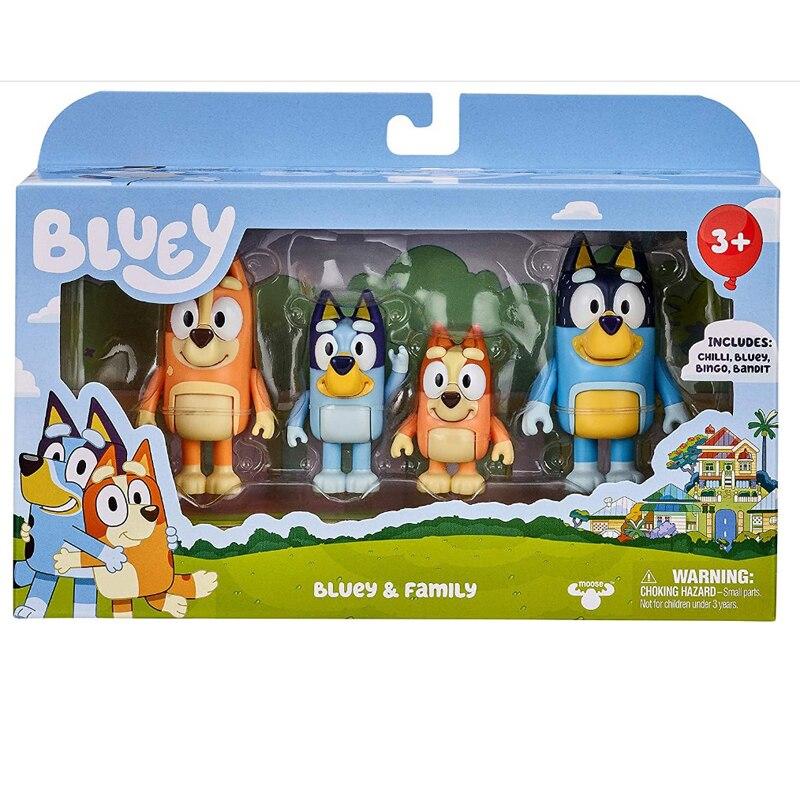 Экшн-фигурки Bluey and Friends коллекция 4 шт./компл. игрушки
