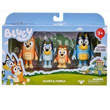 O bluey e Amigos Brinquedos Action Figure Coleção 4 pçs/set