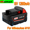 Аккумулятор для Milwaukee M18 12800 мАч 18 в M18 электроинструменты перезаряжаемая литий-ионная батарея Замена 48-11-1815 48-11-1850 48-11-1840